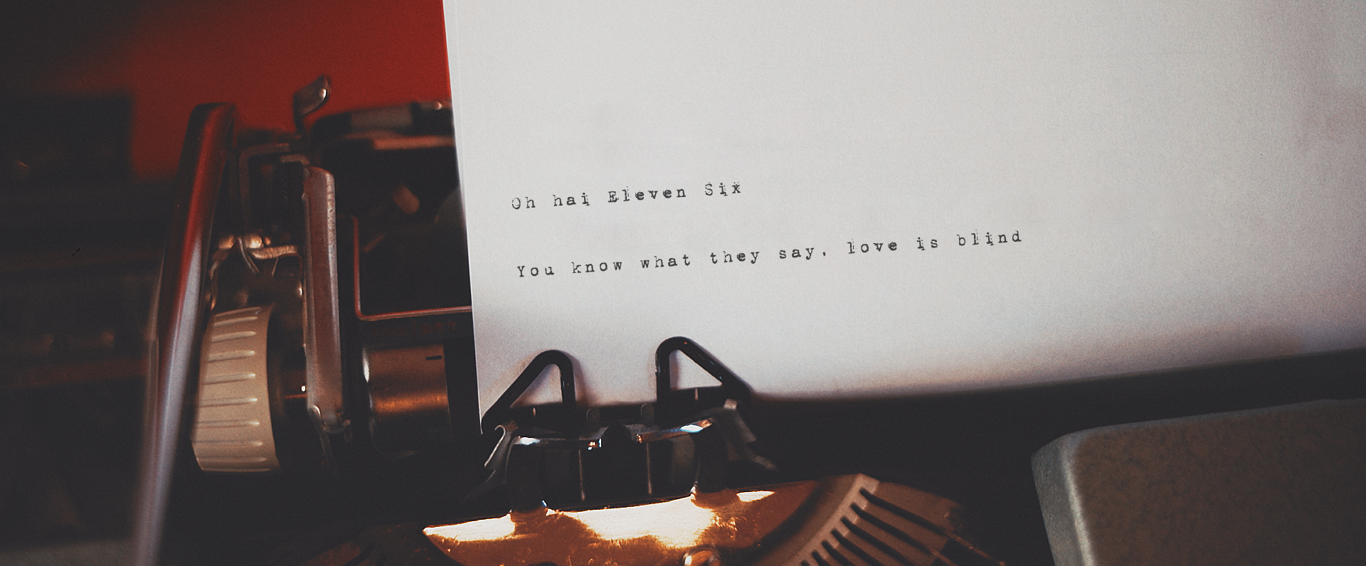 Contact Eleven Six Wedding Films Glasgow - Header Typewriter