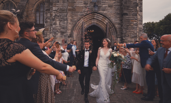 Crossbasket Castle Wedding Film Video Glasgow - Francesco & Melissa Confetti