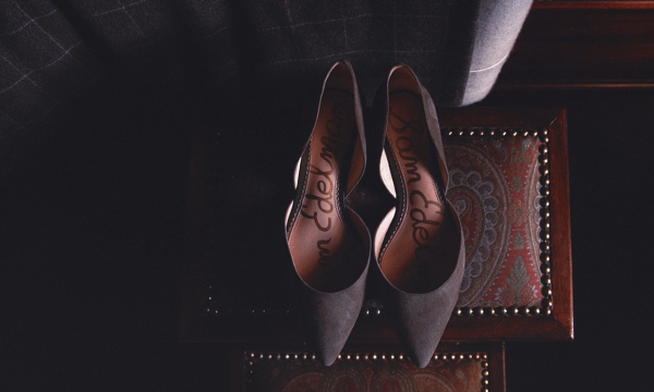 Kelsey & Jordan Forter Castle Wedding Film Shoes