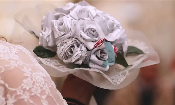 29 Glasgow Wedding Film Paper Wedding Flowers Nicola Steven